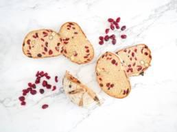 Pains aux cranberries - Boulangerie